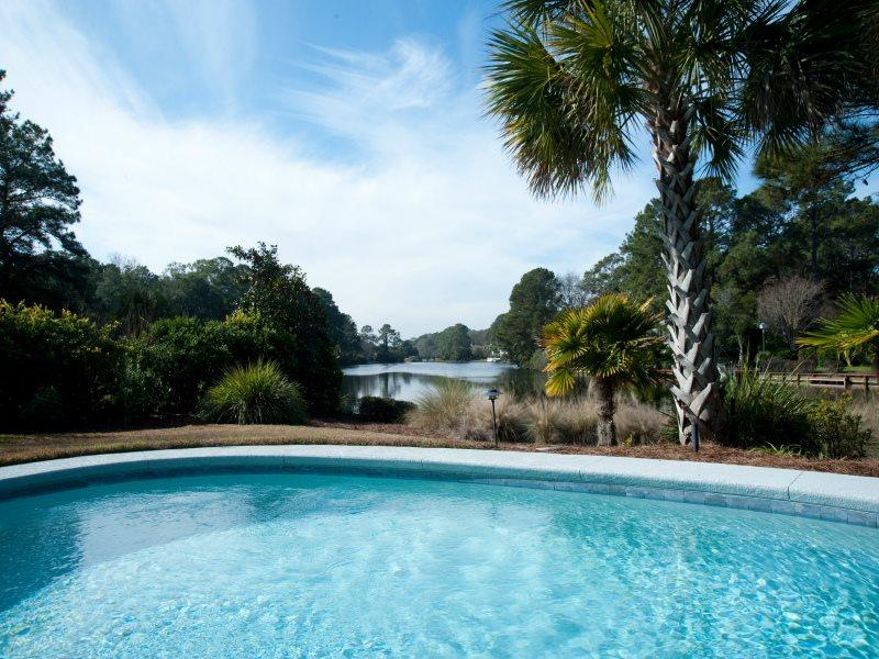 Pool with Lagoon Views at 6 Rum Row in Palmetto Dunes - 6 Rum Row - Hilton Head - rentals