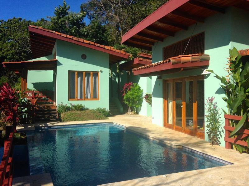 Pool, Master Suite and Bunkhouse View, 3 buildings for total privacy - Quinta de la Paz - Your Own Slice of Paradise - Playa Samara - rentals