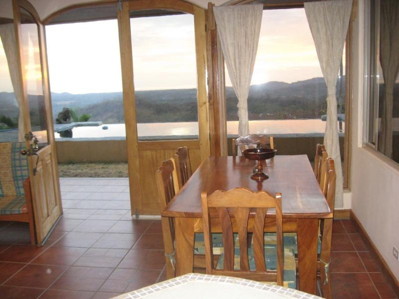 Downstairs Apartment kitchen view to pool and tamarindo - Casa Vista Mar - Huacas - rentals