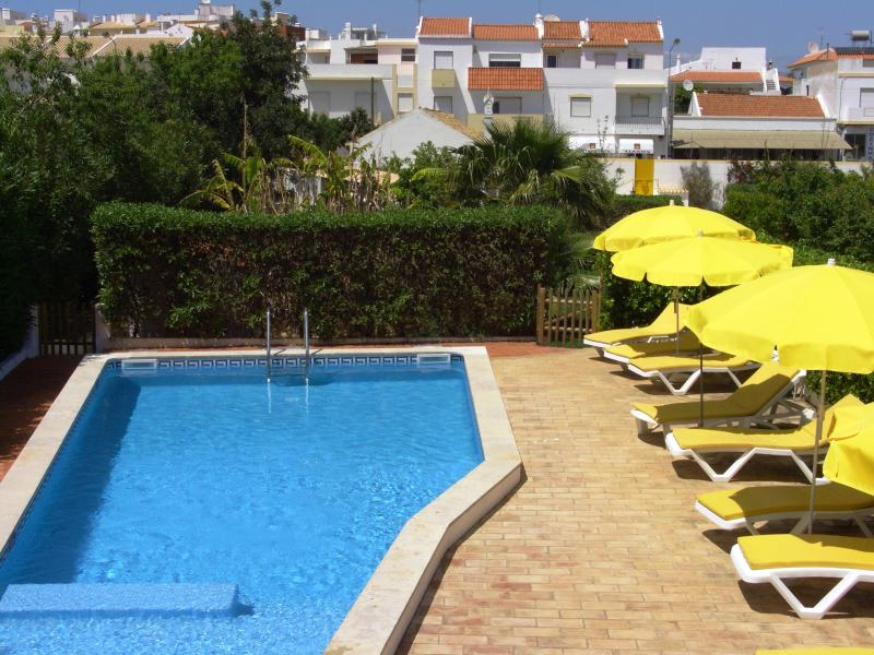 Pool view from terrace - Private villa beautiful pool and gardens, 8 guests - Alvor - rentals