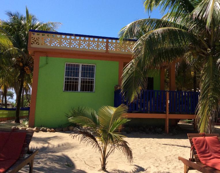 View from the beach - Beachfront Villa 2 BR, Coconut Row, Center Hopkins - Hopkins - rentals