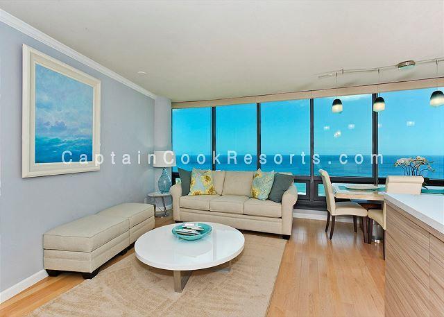 PRICE REDUCED!  Luxury condo with 2 Master Suites, panoramic ocean views! - Image 1 - Waikiki - rentals