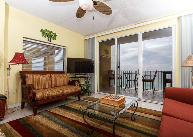 New furniture in the living room as of December 2014! - GD 611 Incredible top floor 3 BR/3 BA condo! WiFi, tennis, BBQ, pools - Fort Walton Beach - rentals