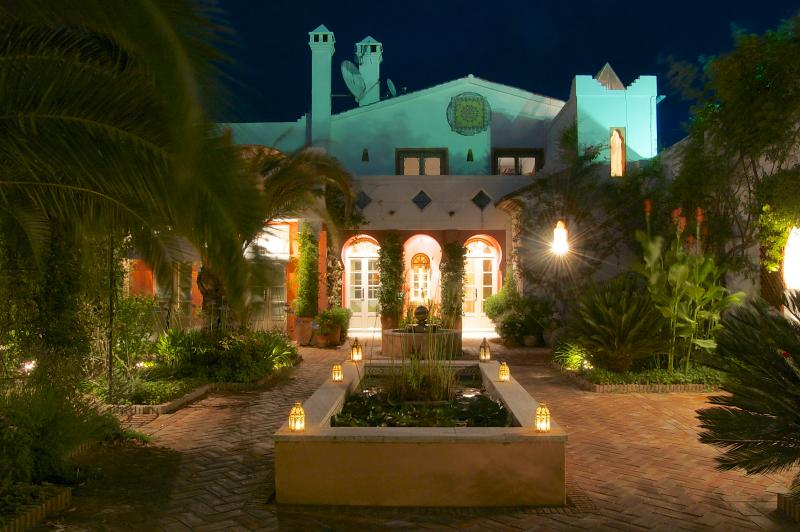Casa Mosaica from the exotic scented garden on a hot summer night. - Casa Mosaica; Magical property with lovely pool. - Gaucin - rentals