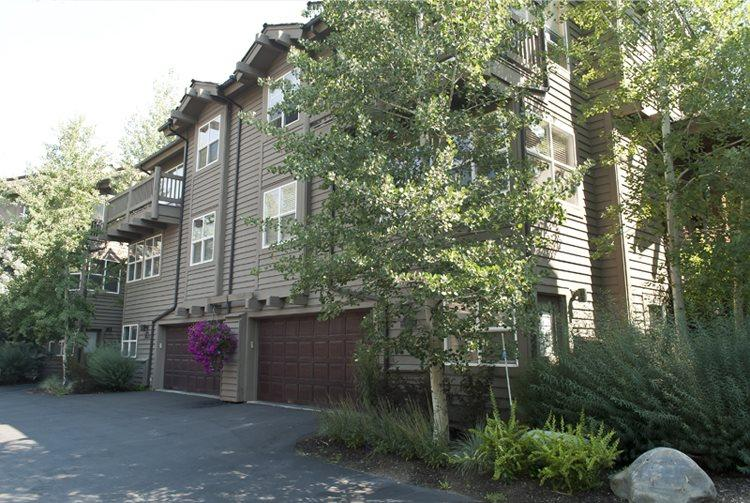 Front Exterior of the town home with garage  - River Ridge Lane - #215A, Quiet Ketchum Townhome near River Run Ski Lifts; - Ketchum - rentals