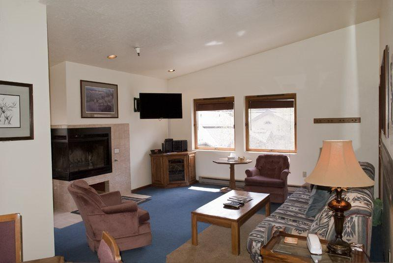 Living Room  - Christophe #506, Ketchum - Cute unit with elevator and underground parking; close to skiing/downtown - Ketchum - rentals