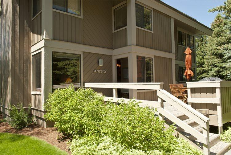 Front exterior of the condo  - Villager #1277, Sun Valley - Economical condo for large family or group; - Sun Valley - rentals