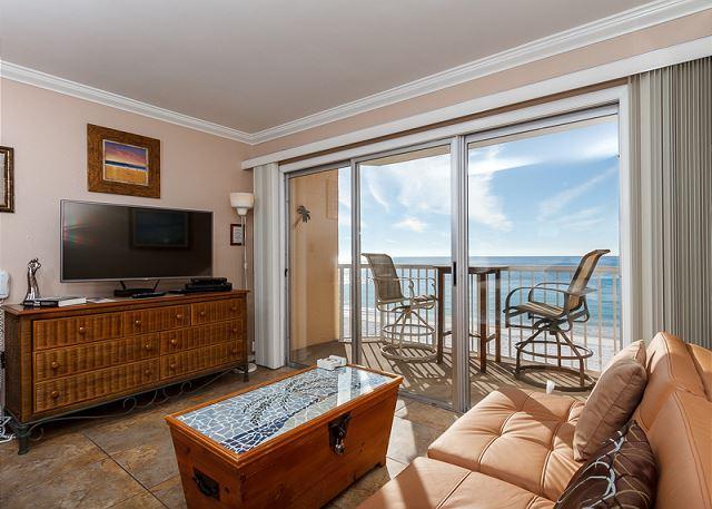 Gorgeous beach front efficiency - #604:UPDATED efficiency facing beach-balc,kitchenette,flatscreen,BCH SVC - Fort Walton Beach - rentals