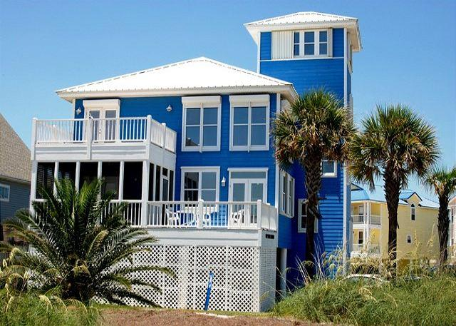 'My Blue Heaven' 5+ BR, Great Beach Views, Elevator, Pier on Lagoon - Image 1 - Gulf Shores - rentals
