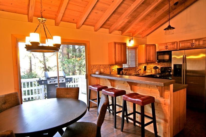 View from dining area toward kitchen - Bavarian Zen Den - Unique Mountain Retreat! - Lake Arrowhead - rentals