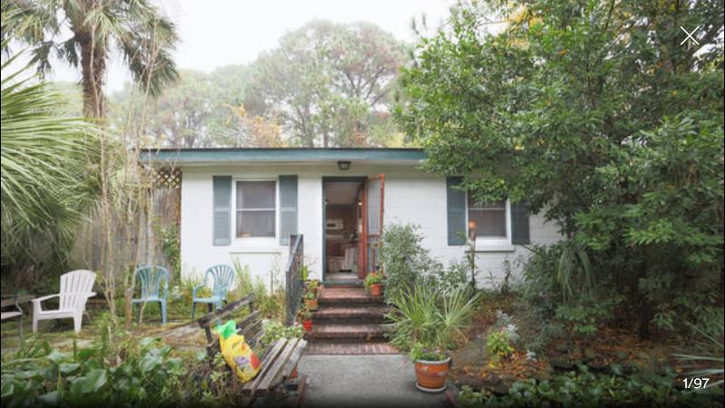 Front of house & Pond - Tybee Beach Bungalow Rental - Tybee Island - rentals