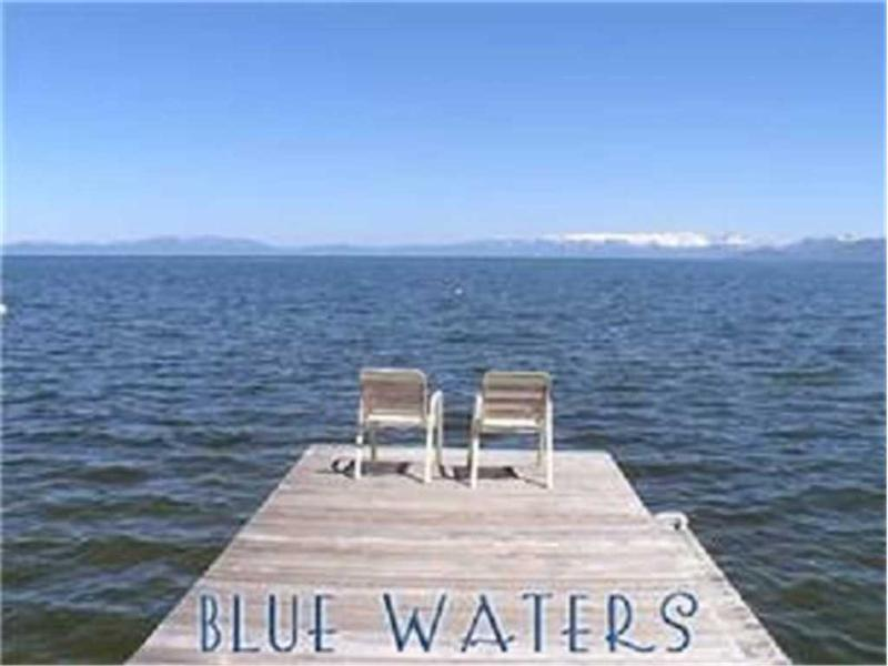 Lake Front, Regan Beach Home with Private Beach, Pier and 3 Buoys (RB01) - Image 1 - South Lake Tahoe - rentals