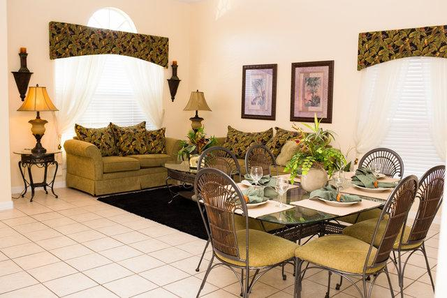 Formal living room and dining area - Tropical 5 bed home near Walt Disney World Florida - Clermont - rentals