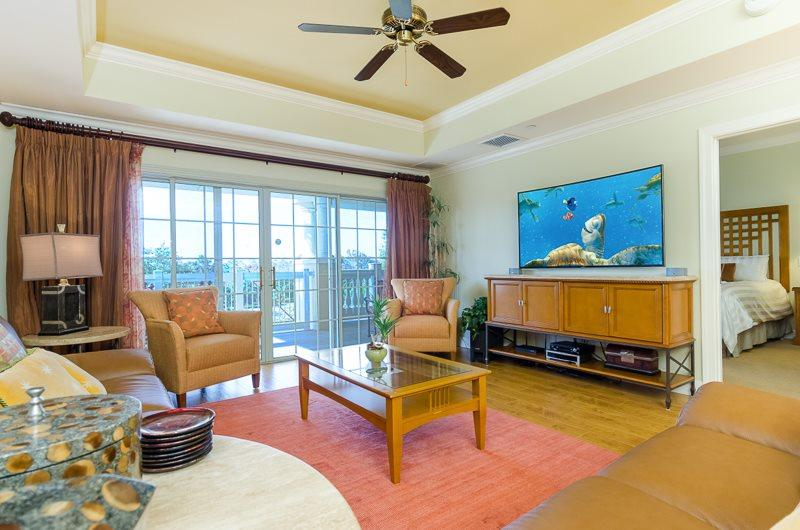 Updated Luxury Living Room with Beautiful Hard Wood Floors - Tee Time | 3 Bed Condo | Reunion Resort - Kissimmee - rentals