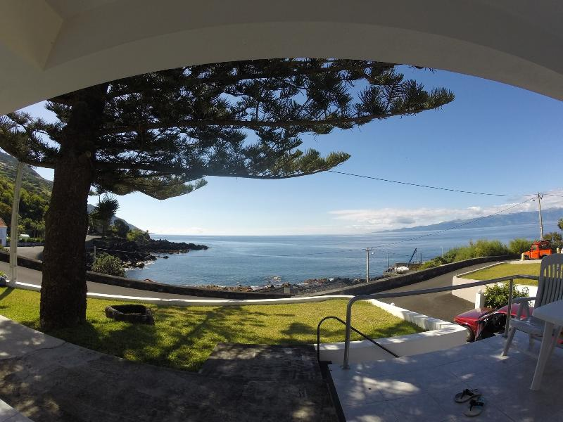 View from living room of ocean, snorkeling bay and Pico Island - Home in the Azores Islands - Tranquility lies here - Rosais - rentals
