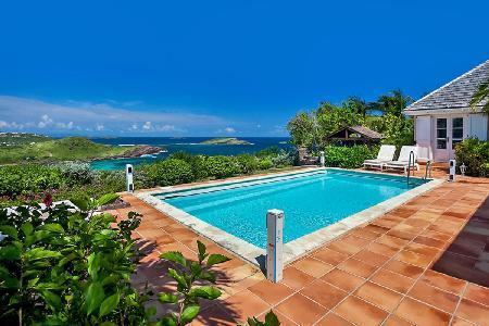 Lovely Ocean-View Villa Le Roc with heated Pool, Terrace & shared Beach Access - Image 1 - Saint Barthelemy - rentals