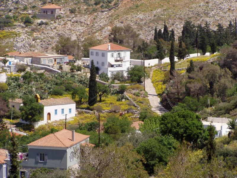 VillaHydra - our house in the center of photo - Total relaxation in car-free island II - Hydra - rentals