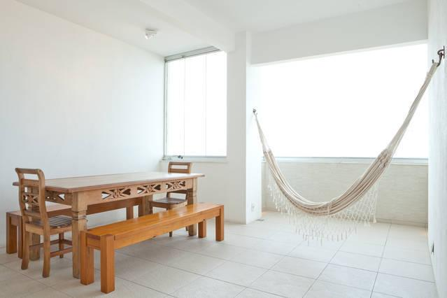 View over dining area to beach view - STUNNING OCEAN VIEW APARTMENT IN COPACABANA - Rio de Janeiro - rentals