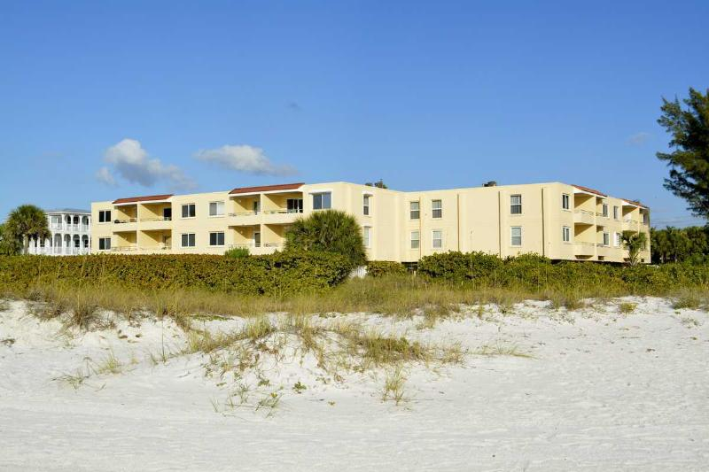 Unit 206 2nd floor 2nd from rt. 700 ft. Beach frontage - GULF SANDS UNIT 206 GULF FRONT - Anna Maria Island - rentals