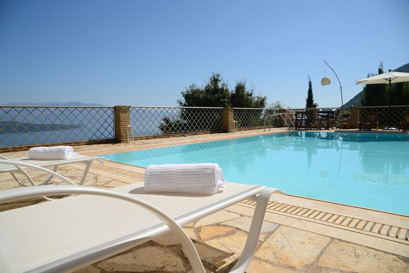 Relax by the private pool - Luxurius, spectacular seaviews, pool -villa Arion - Vasiliki - rentals