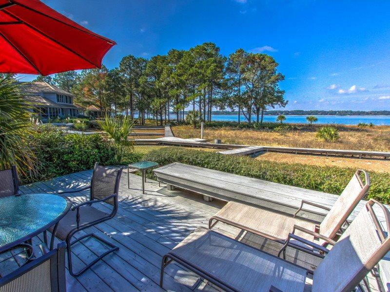 View from the back of 17 Lands End - 17 Lands End Road - Sea Pines - rentals