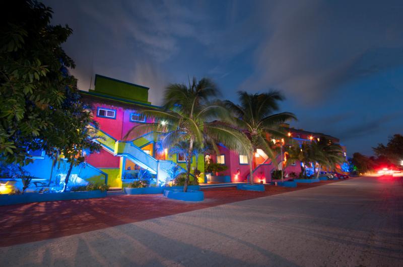 Vista del Mar/Del Sol in the evening - Vista del Mar/Del Sol  2 Bedroom Seaside Condo - Akumal - rentals