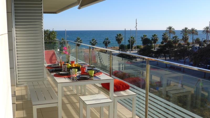 "view from the balcony - ""ALEX´s BEACH-Line""-Apartment - Sant Adria de Besos - rentals"