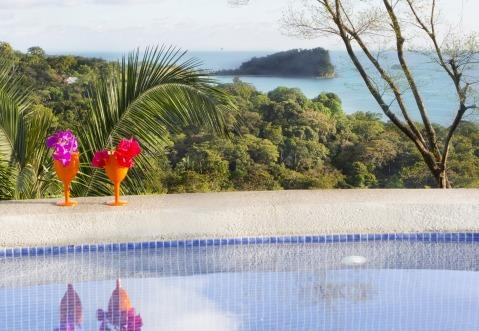 View of Manuel Antonio National Park and ocean from swimming pool - Top Rated Stunning Luxury Villa w Staff and Chef - Manuel Antonio National Park - rentals