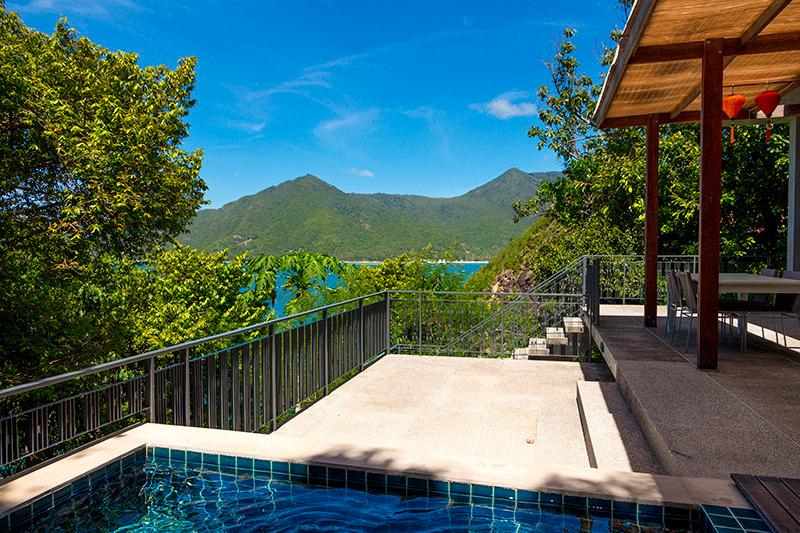 View from Plunge-pool out to Chaloklum Bay. - The Tree House, 2 Bedroom Villa on Koh Phangan, TH - Koh Phangan - rentals