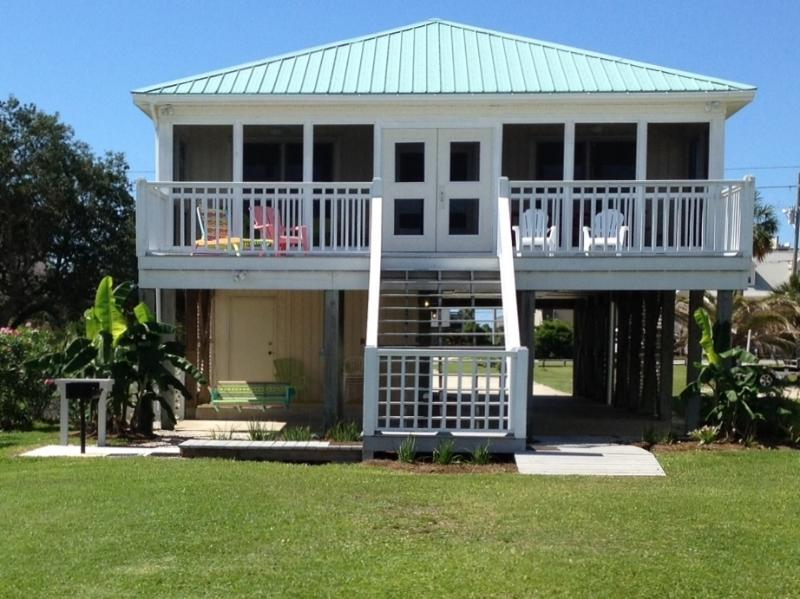 View of the house from the pier - Waterfront Home- Private Pier!  Walk to the beach! - Gulf Shores - rentals