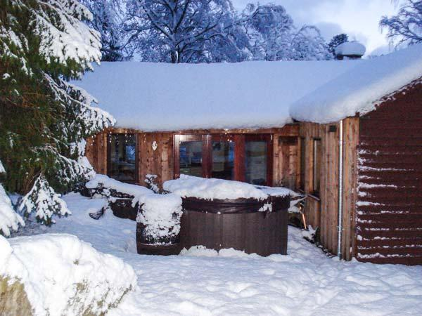 SUIDHE COTTAGE, detached timber cottage, with three bedrooms, decked area and hot tub, in Kincraig, Ref 17310 - Image 1 - Kincraig - rentals