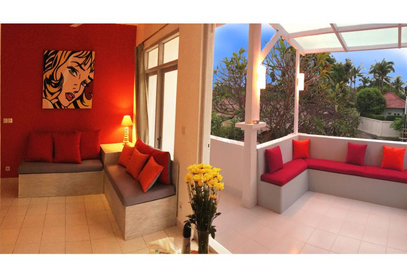 living room / terrace - BALiPOP Apartment 2br SEMINYAK 300m from the beach - Seminyak - rentals