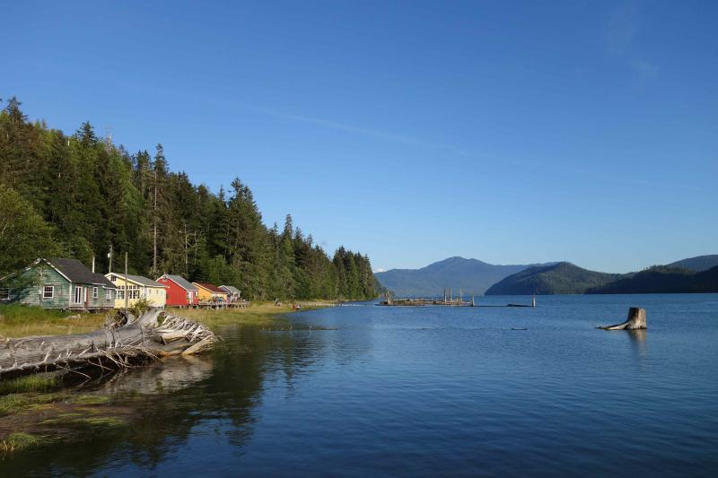 Cassiar Cannery - Guest Houses looking towards the mouth of the Skeena River - Cassiar Cannery ~ where history and nature meet~ - Prince Rupert - rentals