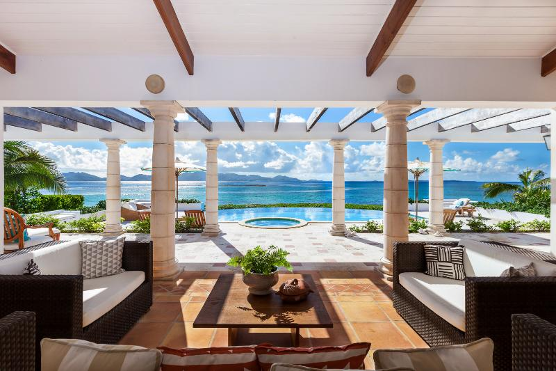 Breathtaking views of the Caribbean Sea and mountains of St. Martin - Alegria Anguilla: Top-Rated Beach Villa. Photos> - Anguilla - rentals
