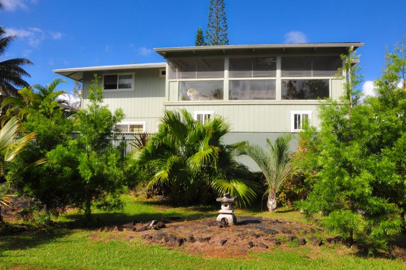 Front view of the house - Ocean View PoolJacuzzi 4BR 3Ba 25%OFF Aug 2015 - Keaau - rentals