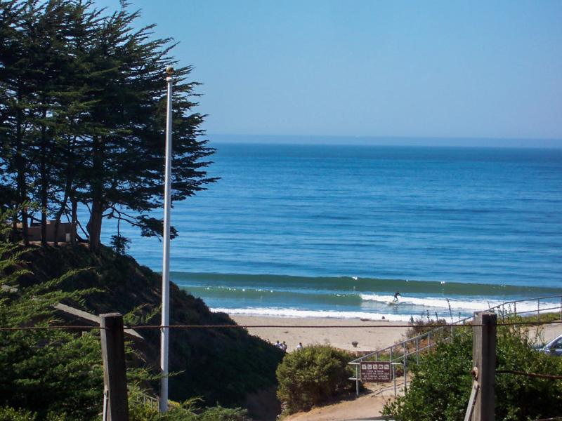 Actual Whitewater and Sand View from Living Room - Almost Ocean Front, Sand & Whitewater View Hot Tub - Santa Cruz - rentals