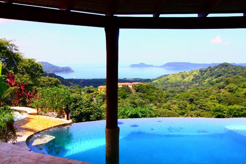 The morning view from the shaded sun terrace looking toward Panama Bay - A Unique, Tranquil and Luxurious Villa. - Playa Panama - rentals