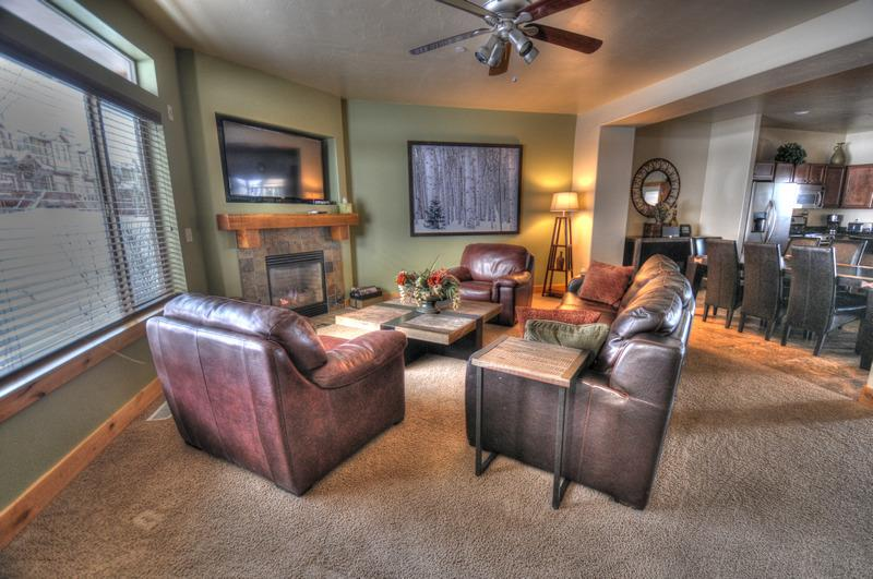 "Main Living Area - 60"" TV - Beautifully Decorated w/ Private Hot Tub (BH5610O) - Park City - rentals"