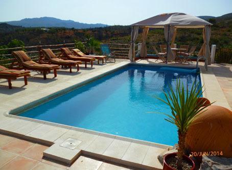 Pool area and views 2015 - Villa Rio Magro, Modern, Spacious, Private pool, - Bunol - rentals