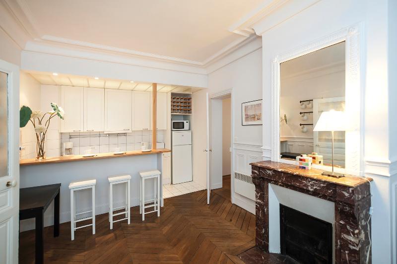 Living room - Quiet 2 Bedroom Paris Apartment Near Rue de Buci - Paris - rentals