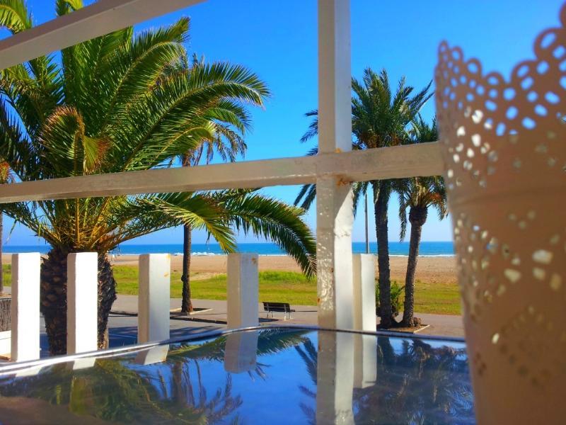 fantastic views from the balcony facing the sea - BeachFront Apt.4 + balcony + view + Barcelona - Castelldefels - rentals