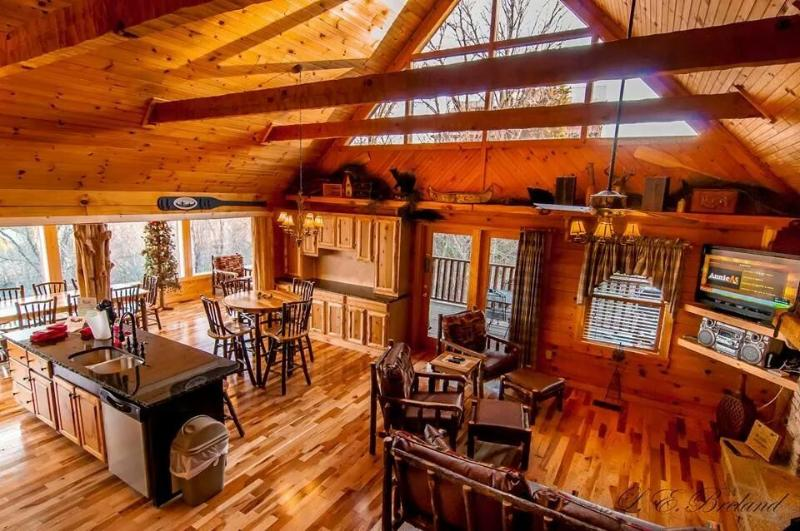 view from loft - 3 LEVELS OF FUN AND GLASSED IN PORCH W/VIEW! - Sevierville - rentals