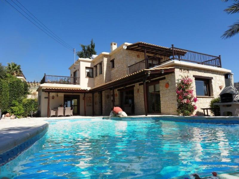 Luxury 5* 3-Bed Stone Villa in Peyia, Coral Bay - Image 1 - Peyia - rentals