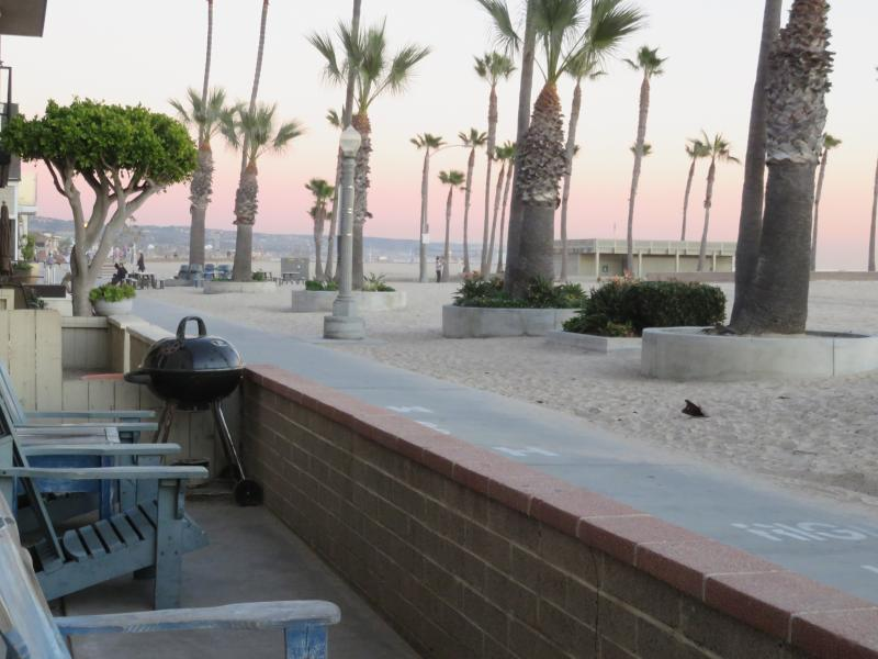 patio of B unit - Sweeping Ocean view Beachfront Villa on the sand - Newport Beach - rentals