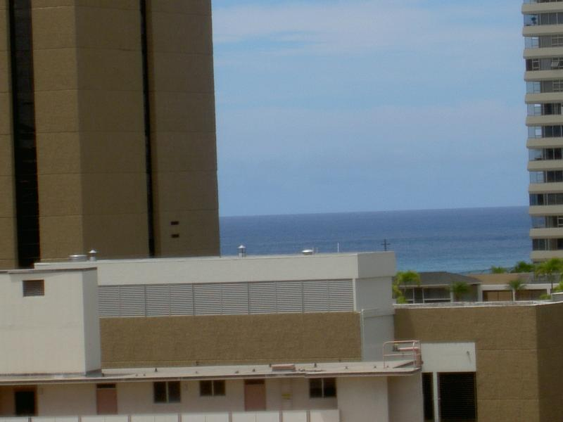 View from the living room - SPACIOUS FURNISHED CONDO WITH VIEWS+AMENITIES - Honolulu - rentals