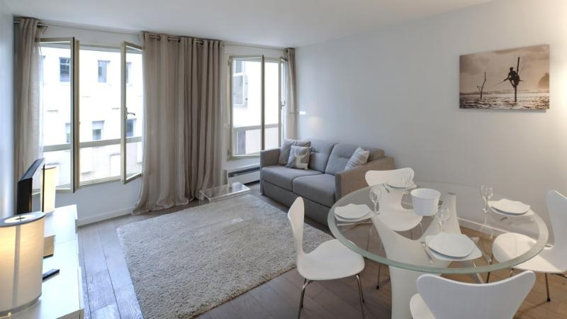 The living room with dining area and sofa bed - 909 One bedroom   Paris Latin quarter district - Paris - rentals