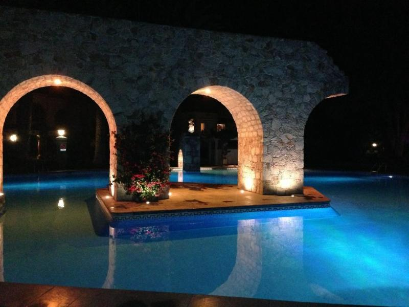 The illuminated pool at night - Stunning!  Your house at Tequisquiapan - Tequisquiapan - rentals