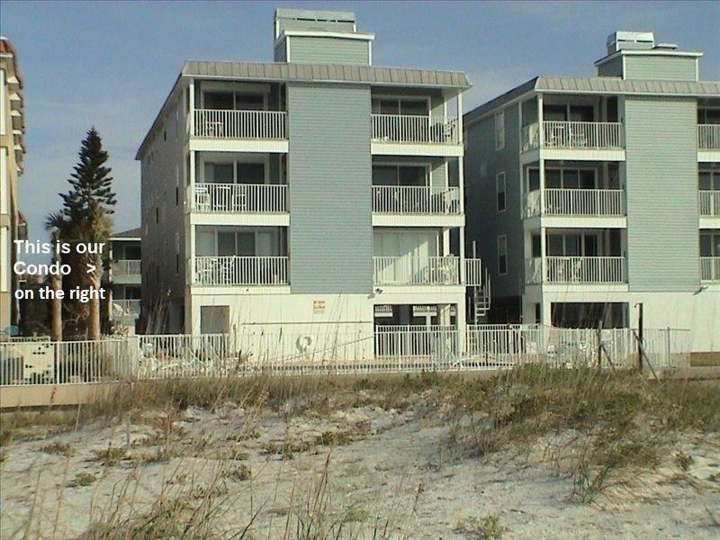 Sea Isle from the Beach (Our unit is to the right of the white text in the picture) - Luxury Gulf Coast Condo at Indian Rocks Beach Fl. - Indian Rocks Beach - rentals
