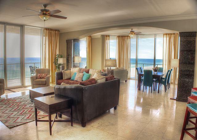 Living Room - Mediterranean 502W - Breathtaking Views From Balcony Hot Tub - Sept Openings - Pensacola - rentals