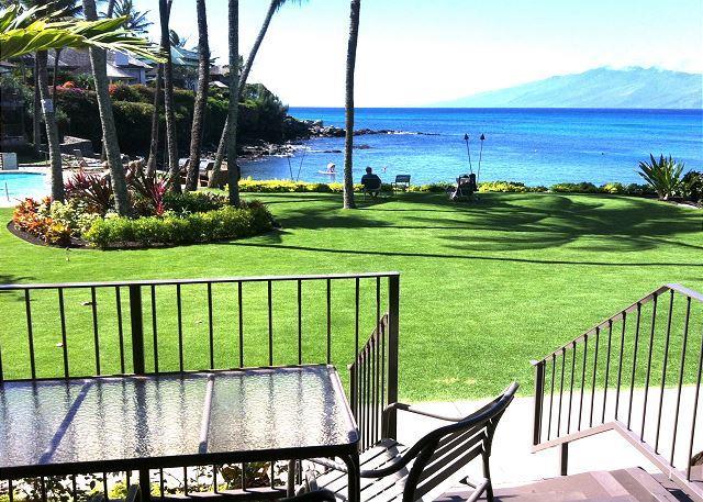 View from #114 lanai - Romantic! Oceanfront Honokeana Cove Ground Floor, Great Snorkeling, Turtles - Lahaina - rentals